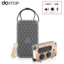 DOITOP NFC Wireless Bluetooth Speaker With Remote Control Portable Stereo Speakers Subwoofer Support FM Radio TF Card AUX in