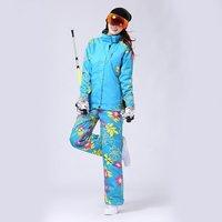 Women Fleece Ski Winter Waterproof Windproof Thicken Warm Snow Clothes Ski Coats Jacket for Skiing And Snowboarding