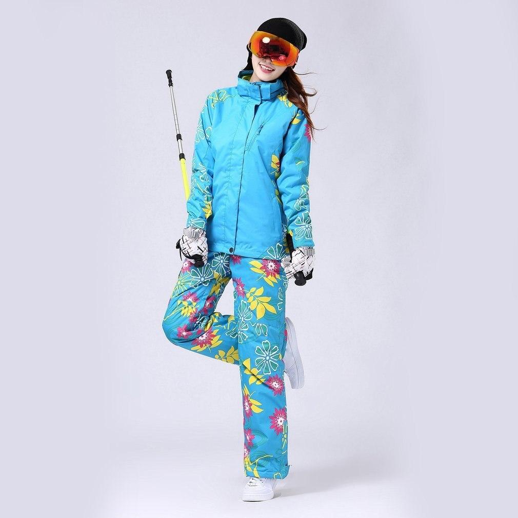 Women Fleece Ski Winter Waterproof Windproof Thicken Warm Snow Clothes Ski Coats Jacket for Skiing And SnowboardingWomen Fleece Ski Winter Waterproof Windproof Thicken Warm Snow Clothes Ski Coats Jacket for Skiing And Snowboarding