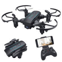 HY 1601 Mini Droni con telecamera HD 720P Quadrocopter Dron pieghevole in tempo reale Video senza testa WIFI FPV Quadcopter RC Elicotteri