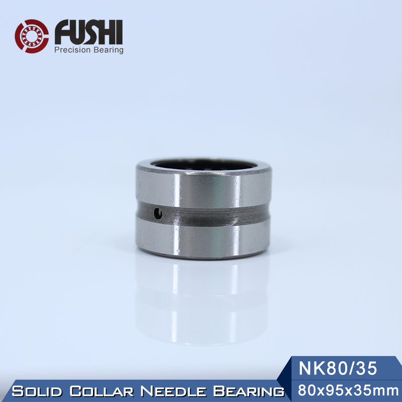 NK80/35 Bearing 80*95*35 mm ( 1 PC ) Solid Collar Needle Roller Bearings Without Inner Ring NK80/35 NK8035 Bearing цена