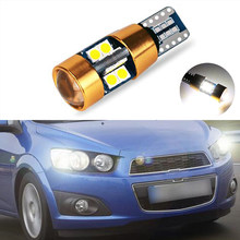 1x T10 LED W5W Samsung Car Clearance Light Bulbs For Chevrolet Cruze Aveo Captiva Lacetti Sail Sonic Camaro(China)