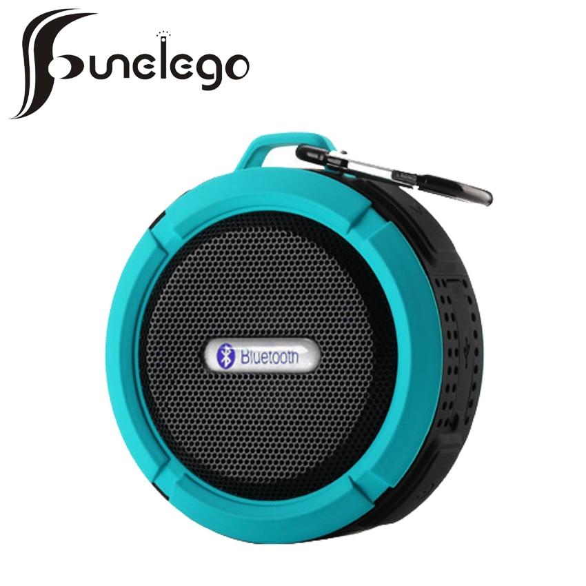 Funelego c6 wireless shower speaker call handsfree waterproof bluetooth mini subwoofer audio for Wireless bluetooth bathroom speaker