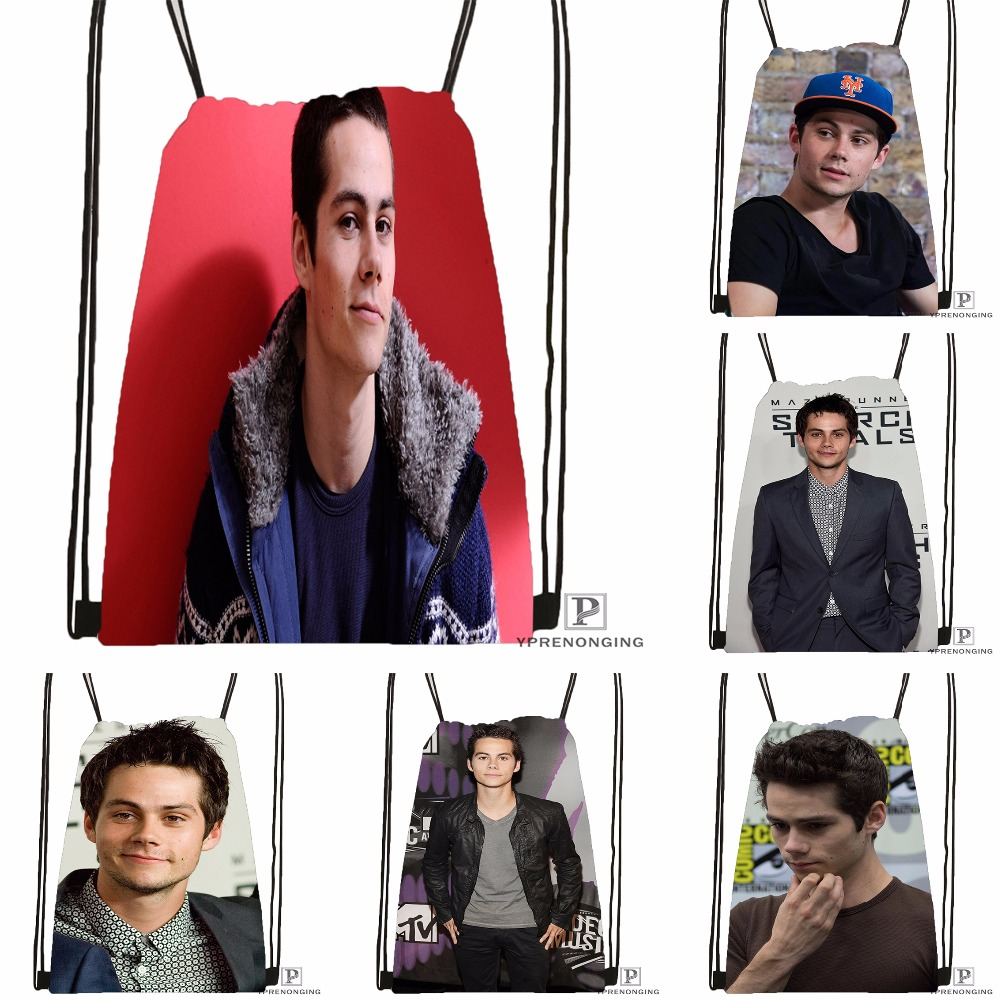 Custom Dylan O brien Drawstring Backpack Bag Cute Daypack Kids Satchel Black Back 31x40cm 180531 04