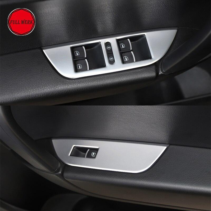 Set of 6pcs Car Window Switch Panel Cover Trim Sticker for VW Volkswagen 2011 2018 Touareg