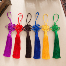 12pcs/lot 12cm Chinese knot tassel silk fringe sewing bangs trim decorative key tassels for DIY curtains home decoration
