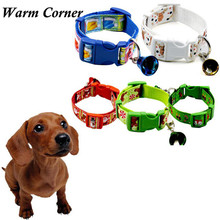 2017 LM 1PC 5 Colors   High Quality Bell Christmas Pet Supplies Puppy Pet Collar Dog Collar Leash Free Shipping Oct 14