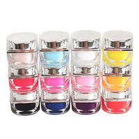 12 PCS Nail Art Gel UV Esmalte Pure UV Builder Set Nail Art Falso Completa Francês Dicas Salon Set Sólida cor