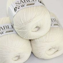 Sale Super Lembut Kasmir Sable Murni Wrap Syal Rajut Tangan Wol Crochet 3X50gr 243-yarn C1(China)