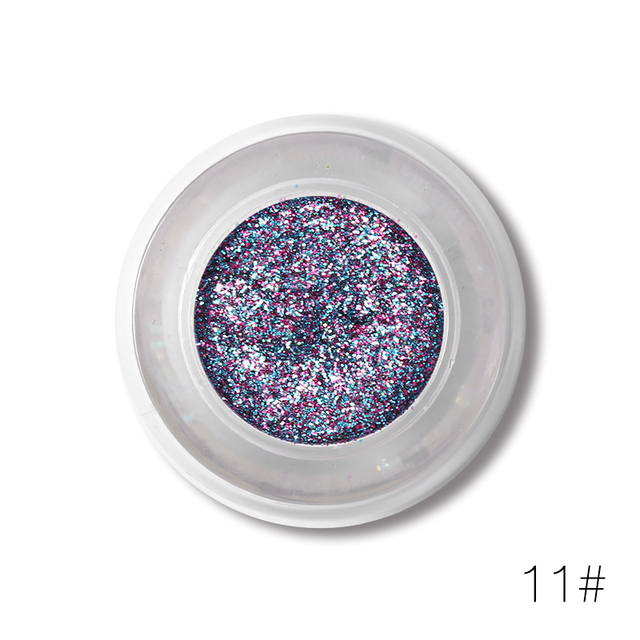 UCANBE Brand Triangle 4 Colors Glitter Eyeshadow Makeup