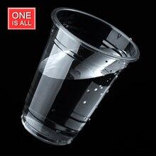 100 UNIDS Desechable vaso de plástico 200 ml 250 ml perla de leche té café tazas de bebida fría taza de agua transparente claro vaso de agua