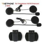2PCS Headset Microphone Headphone Speaker Clip Accessories ONLY Suit For V6 V4 Moto Bluetooth Helmet Intercom