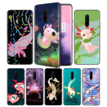 Cute Animal Axolotl Soft Black Silicone Case Cover for OnePlus 6 6T 7 Pro 5G Ultra-thin TPU Phone Back Protective