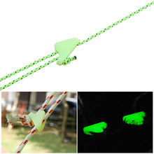 Outdoor Luminous Rope Buckle Fluorescence Tent Triangle Alert Reminder Accidental Danger Wind Adjuster 12PCS