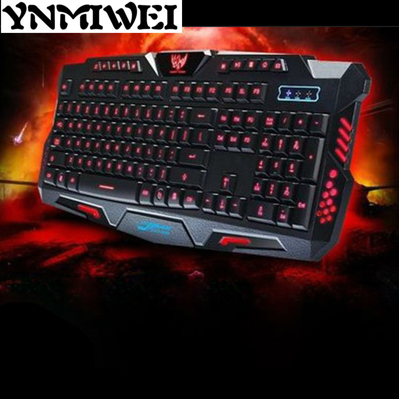 Wired USB Mechanical Gaming Keyboard Game Professional Colorful 3 colors Backlight Breathing Lamp for LOL Computer Laptop Gamer  alangduo simple pro usb wired keyboard for desktop laptop computer tablet home office video gaming game