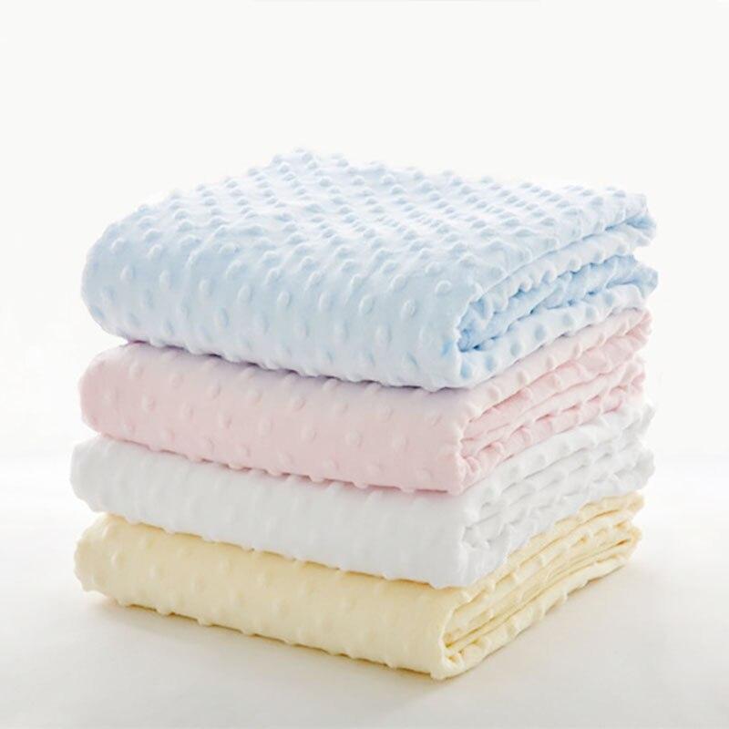 ٩(^‿^)۶Bebé Mantas ropa espesar doble capa polar bebé Manta sobre ...