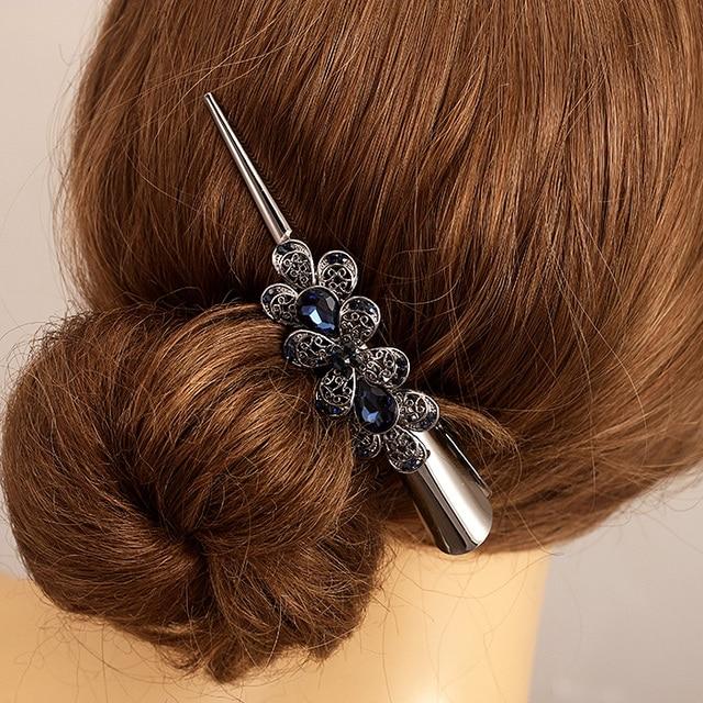 Retro Hair Jewelry High Quality Rhinestone Crystal Flower Hairgrips Hair Clips Women Hair Accessories