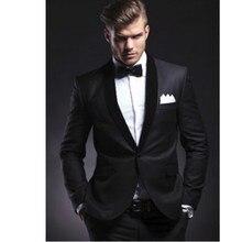 Black Groom Suits Groomsmen Tuxedos BEST Men Suit Wedding suits Jacket pants New custom