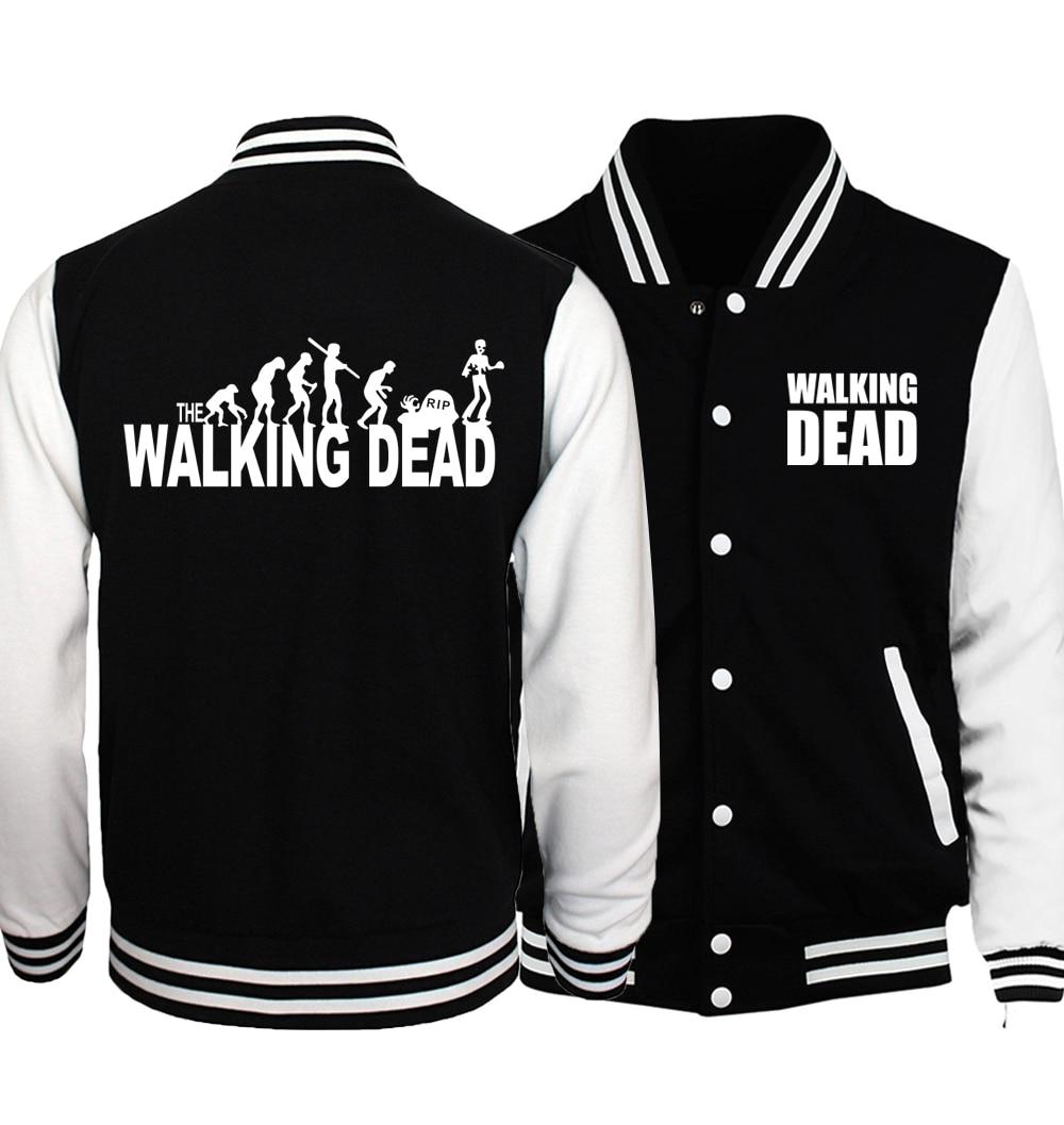 2019 Spring Autumn The Walking Dead Baseball Jackets Coat Fashion Men Jacket Hoodies Brand Clothing Men's Sportswear harajuku