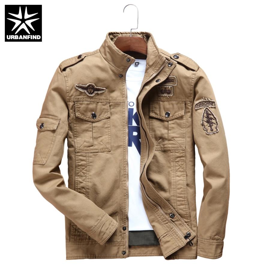 Mens khaki jacket casual - Urbanfind Army Style Men Casual Pilot Jacket Plus Big Size M 6xl Multi Pocket Decoration