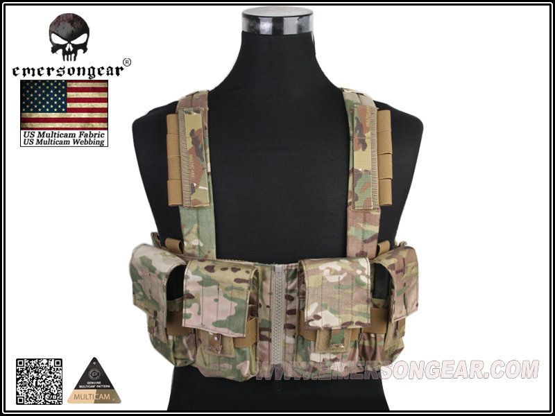 Emerson LBT1961K Style Military Tactical 7.62 Chest Rig Genuine Multicam Tactical Gear+Free shipping(SKU12050879) emerson gear sniper waist pack genuine multicam 500d military tactical waist pack free shipping sku12050410