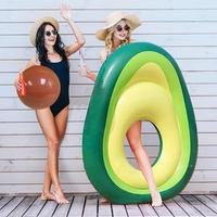 2019 New Inflatable Avocado Pool Float with Ball Water Fun Summer Beach Swimming Party Inflatable Water Toys Products