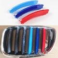 3 цвета  передняя решетка  полоса  автоспорт  M полоски  гриль  крышка  производительность  колпачок  наклейки для 2004-2007 BMW X5 E53  автомобильные а...
