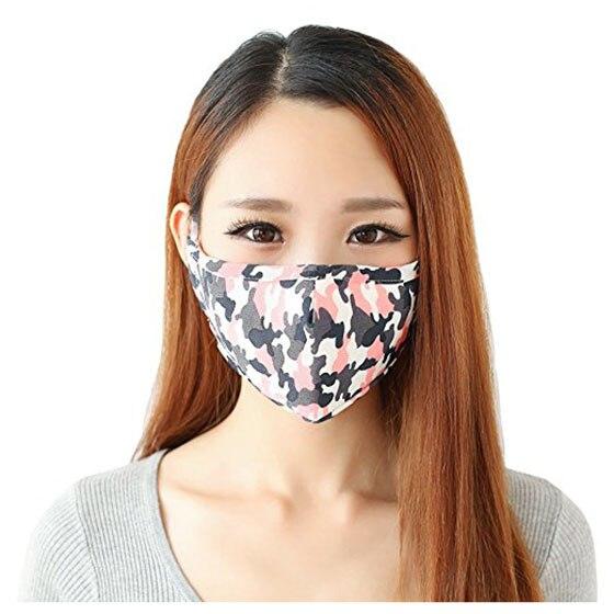 3 Pcs Unisex Dust Allergy Flu Masks Washable Cotton Breath Healthy Safety Pink Blue Yellow