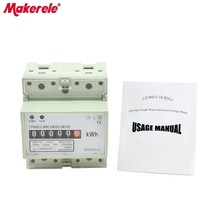 цена на digits step motor impulse register MK-LEM011AG Single phase Din rail KWH Watt hour din-rail energy meter LCD