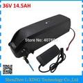 Abajo tubo Hailong batería 36 V 14.5Ah bicicleta batería 36 V 15AH 42 V 2A cargador USB Puerto uso NCR PF 2900 mah 30A BMS