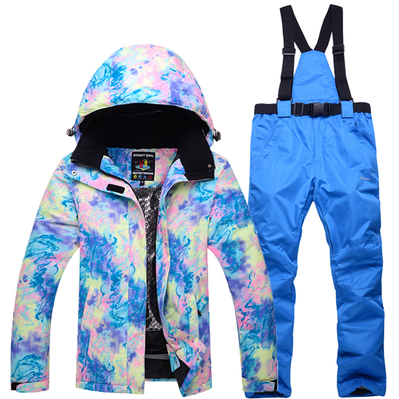 2018 NEW hot Women outdoor Ski Suit Super Warm Clothing Skiing Snowboard Jacket+Pants Suit Windproof Waterproof Winter Wear все цены
