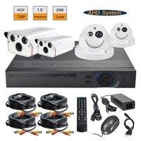 4CH 720P AHD DVR 1 0MP Night Vision Indoor Outdoor Cameras CCTV Security System