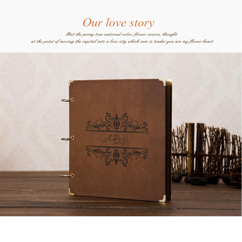 Birthday Gift 12 Inch Classical Handmade DIY Loose-leaf Photo Album Wedding Sticker Scrapbook 1 Piece Free Shipping