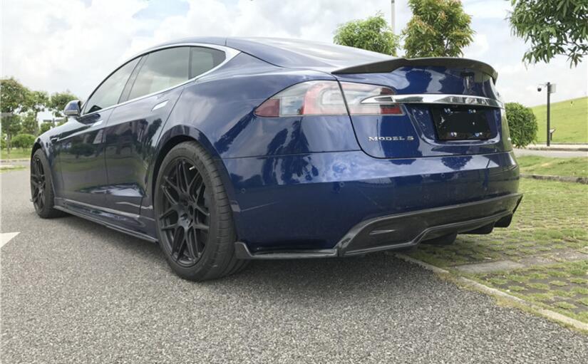 Спойлер для заднего бампера автомобиля из углеродного волокна, боковые фартуки для Tesla Model S Revo 2016 2017 2018 2019