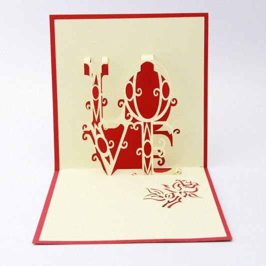 Корень жизни ЛЮБОВЬ любовное письмо 3D стерео День Святого Валентина открытка поздравительная открытка