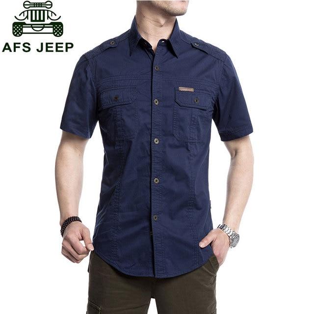 Plus Size XXXXXL Summer Men's 100% Cotton Shirts Solid Color Fitness Dress Short Sleeve Shirts Casual Blue Men CLOTHES 5001