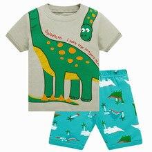 Summer Boys Pajamas Suits Blue pijamas Kid Sleepwear Children Pyjamas home clothes Nightdress Girl Home wear Stripe Digger