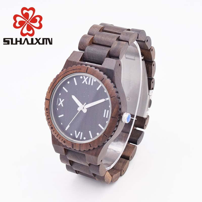 SIHAIXIN mens wooden watch top brand luxury Edition Series of Wood wrist watches with Personalized designer vintage clock man de wooden wrist watch mens top luxury brand new natural quartz wooden verawood watches men clock wood watch with led luminous watch