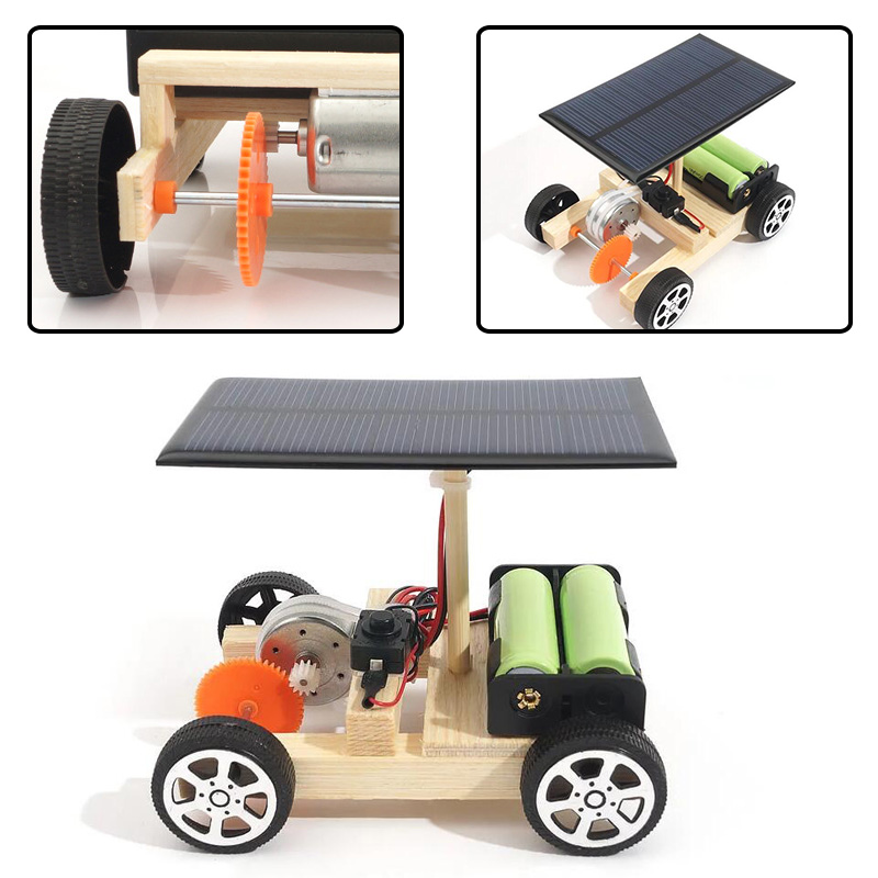 Toy for Science Experiment Kid Wireless Remote Control Car Model DIY Fabrication
