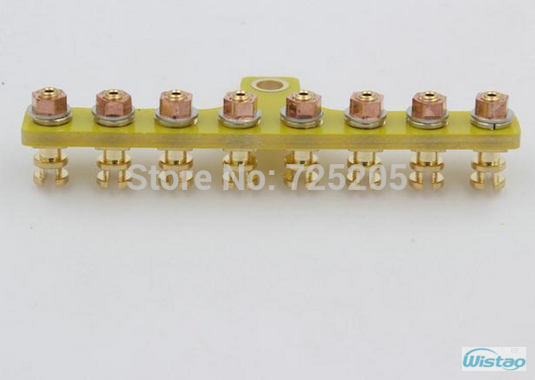 T-style Scaffolding Gold-plated Pure Copper 8Pins for High-end Tube Amplifier Large Spot Goods Wholesale HIFI DIY Free Shipping