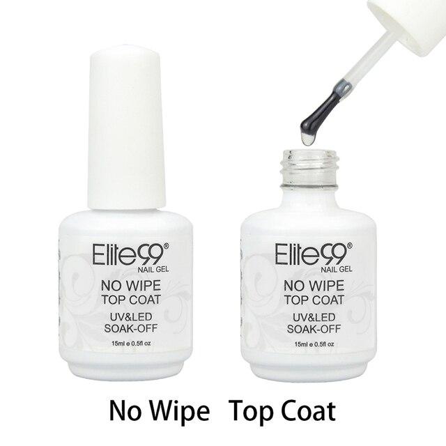 Elite99 Keine Wischen/Abwischen Top Mantel UV Top Coat Gel Nail art Salon Transparent Nagellack Oder Matt Top mantel Nagellack