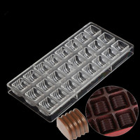 Kitchen accessories chocolate mold polycarbonate,plastic baking and pastry tools polycarbonate baking mold for chocolate