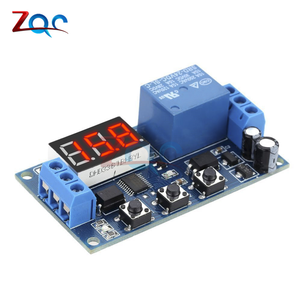 DC 24V Time Delay Relay Module Digital Led Delay Timer Module Switch Control Relais Cycle High PerformanceTimer Module