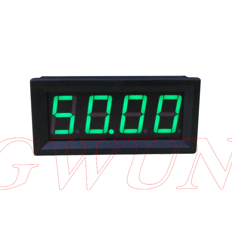 4 Bit Digit Ammeter Current Panel Meter 0.56 Inch Led Gwunw By456a 0-50.00a 50a