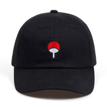 Anime Lovers Naruto Dad Hat Uchiha Family Logo 100% Cotton Embroidery Baseball Caps Black Snapback Hat Hip Hop for Women Men(China)