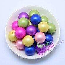 Envío gratis 110 unids/lote, 20 mm, Bubblegum colores de la mezcla al azar mate grano de la perla de la perla del ABS para la joyería Kits CDWB-517152