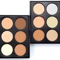 Popfeel 6 colores de maquillaje face polvos compactos corrector blanqueamiento brighten fundación sombra de ojos paleta de polvo