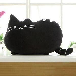 Image 5 - 25*20 Cm Kawaii בפלאש צעצוע חתול כרית כותנה ביסקוויטים בפלאש בעלי החיים בובת צעצועי גדול קריקטורה כרית כרית מתנה