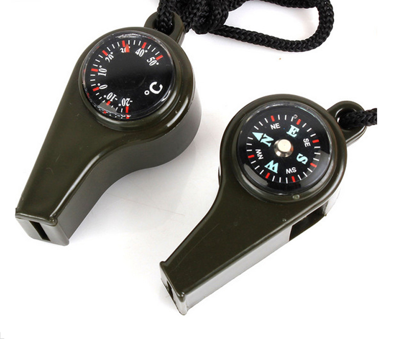 Camping Equipment Tools Survival 3 In1 Outdoor Camping Hiking Emergency Whistle Compass Thermometer Kamp Malzemeleri0.6