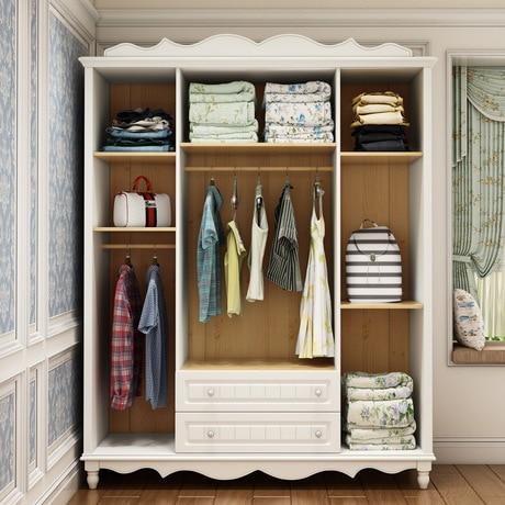 € 2369.98 14% de réduction|Armoire chambre meubles meubles de maison en  bois armoire de rangement vêtements rack assemblage placard 176*59*226 cm  ...